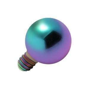 Embout Piercing Microdermal Boule Anodisée Multicolore