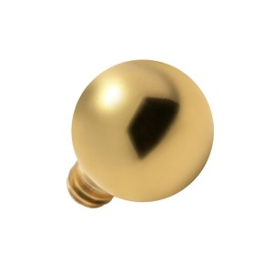 Gold Anodized Ball Top for Microdermal Piercing