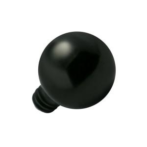 Embout Piercing Microdermal Boule Black-Line Anodisée Noire