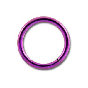 Grade 23 Titanium Labret / Segment Ring w/ Pink Anodization