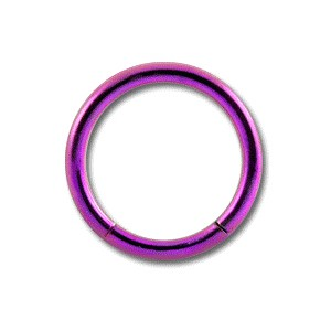 Piercing Labret / Anillo Titanio Grado 23 Anodizado Rosa