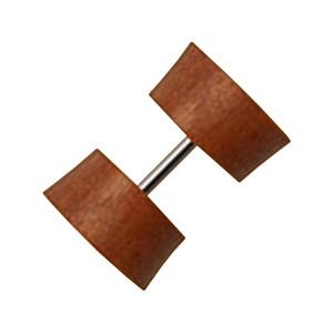 Sawo Wood Earlobe Fake Plug Ear Ring Stud