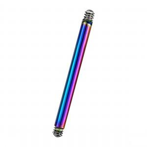 Rainbow Anodized Straight Barbell Bar
