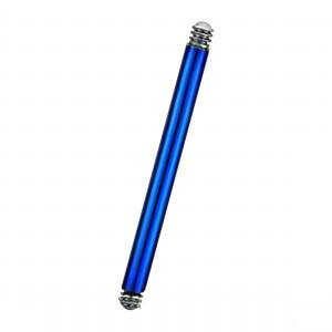 Barre Piercing Barbell Anodisée Bleue