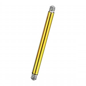 Gold Anodized Straight Barbell Bar