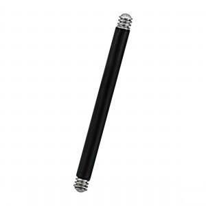 Black Anodized Blackline Straight Barbell Bar
