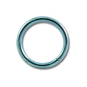 Grade 23 Titanium Labret / Segment Ring w/ Blue Anodization