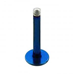 Barre Piercing Stud Anodisée Bleue