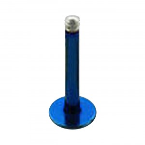 Blue Anodized Stud Barbell Bar