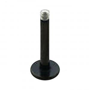 Barre Piercing Stud Blackline Anodisée Noire