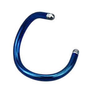 Barra Piercing Espiral Anodizado Azul