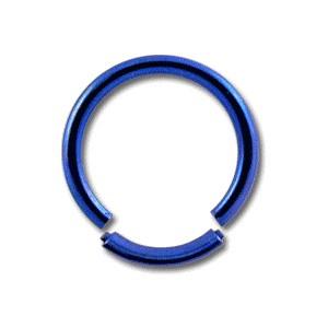 Piercing Labret / Anneau Titane Grade 23 Anodisé Bleu Marine