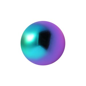 Boule de Piercing Acier 316L Anodisé Multicolore