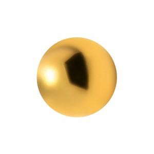 Boule de Piercing Acier 316L Anodisé Doré