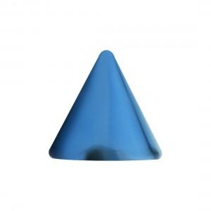 Spike de Piercing Acero 316L Anodizado Azul