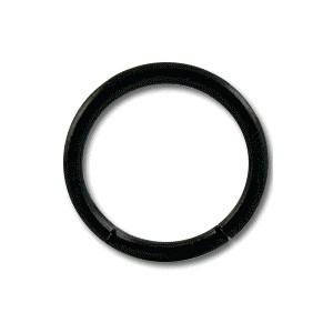 Grade 23 Titanium Blackline Labret / Segment Ring w/ Black Anodization