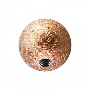 Piercing Kugel Stahl 316L Glanz Effekt Golden Rosa