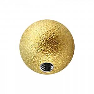 Boule de Piercing Acier 316L Effet Brillant Doré