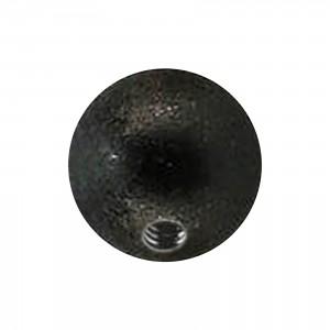 Boule de Piercing Acier 316L Effet Brillant Noir