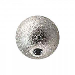 Boule de Piercing Acier 316L Effet Brillant Argenté