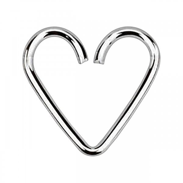 coeur piercing tragus h lix argent massif 925 votre piercing. Black Bedroom Furniture Sets. Home Design Ideas