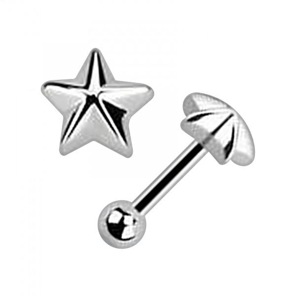 bijou piercing tragus h lix acier 316l etoile votre piercing. Black Bedroom Furniture Sets. Home Design Ideas
