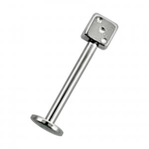 316L Surgical Steel Tragus / Labret Piercing Bar Stud w/ Dice