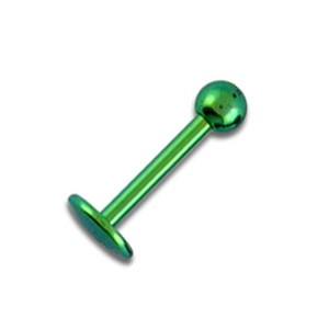 Piercing Tragus / Labret Titane Grade 23 Anodisé Vert Boule