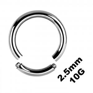 Gros Piercing Anneau Génital / Segment 2.5 mm / 10 G