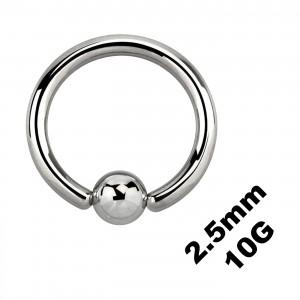 Gros Piercing Anneau Génital / CBR / BCR 2.5 mm / 10 G
