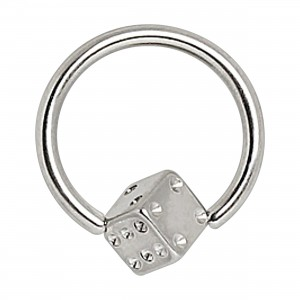 Labret 316L Surgical Steel Dice Closure Ring