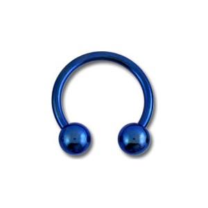 Piercing Tragus / Ohr Titan Grad 23 Eloxiert Marineblau Zwei Kugeln
