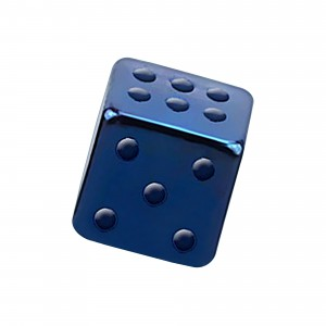 Blue Anodized 316L Steel Piercing Only Loose Dice