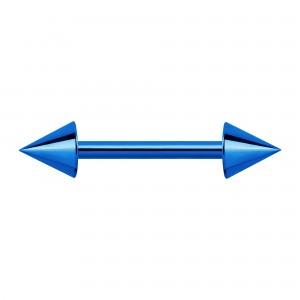 Piercing Téton Anodisé Bleu Piques