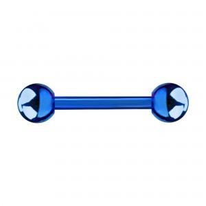 Piercing Téton Anodisé Bleu Boules