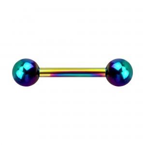 Piercing Téton Anodisé Multicolore Boules