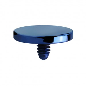 Embout Piercing Microdermal Disque Plat Anodisé Bleu