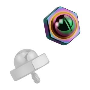 Embout Piercing Microdermal Tête Boulon Anodisé Multicolore