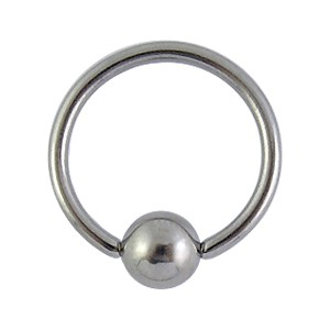 Piercing Labret / Ring Chirurgenstahl BCR Klemmkugel