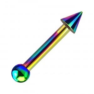 Piercing Tragus / Hélix Acier 316L Anodisé Multicolore Petit Pique