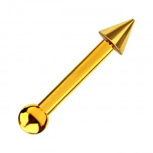 Little Spike Gold Anodized 316L Steel Tragus/Helix Piercing Ring