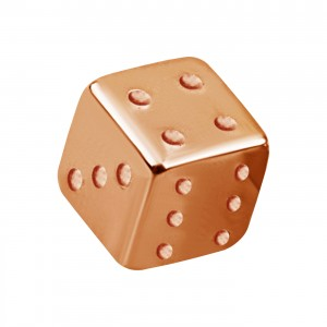 Rose Gold Anodized 316L Steel Piercing Only Loose Dice