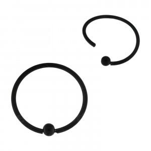 Piercing Ring BCR Stahl 316L Eloxiert Schwarz Flexibel