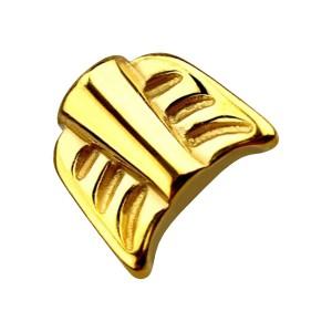 Nur Ende Federn Pfeil Piercing Stahl 316L Eloxiert Golden