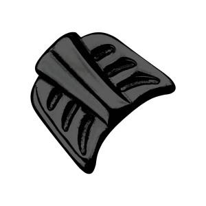 Embout Plumes Flèche Seul Piercing Acier 316L Anodisé Noir
