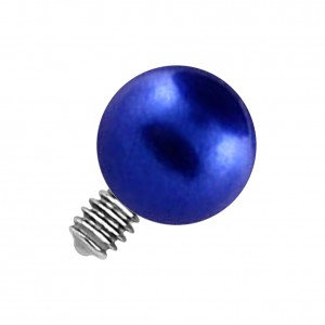 Blue Fake Pearl for Microdermal Piercing