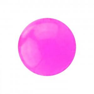 Boule Piercing Acrylique Rose Opaque UV Seule