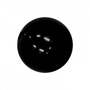 Boule Piercing Acrylique Noire Opaque UV Seule