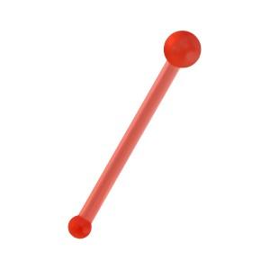 Piercing Nez Droit Pin Bioflex Flexible Boule Rouge