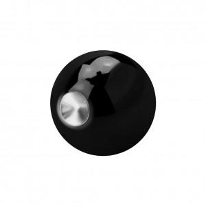 Piercing Kugel BCR Clipsable Blackline Eloxiert Schwarz